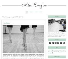 Premade Blogger Template - MISS EMPIRE - Graphic Design - Blog Template - FREE Installation Blog Templates Free, Blogger Templates, Blog Design, Web Design, Graphic Design, Welcome Images, Blog Layout, Wordpress Template, Empire
