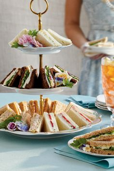 Crowd-Pleasing Tea Sandwiches   The tea sandwich is a quintissential finger food for luncheons and parties.