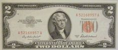 1953 Two Dollar Red Seal United States Note Uncirculated