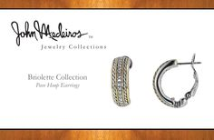 John Medeiros Jewelry Collections Briolette Pave Hoop Earrings available at JW Graham in Wickford, RI