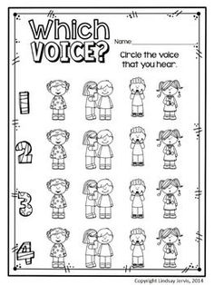 Elementary music class assessment - four voices / voice types - KINDERGARTEN MUSIC LESSON PLAN {DAY 13} - TeachersPayTeachers.com. Kodaly Inspired Classroom #elmused #kodaly #musiceducation                                                                                                                                                                                 More