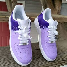 Purple rain Nike Airforce 1's