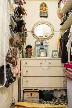 And when your closet is a hallway, organization and presentation is that much more important...