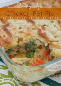 how to make easy chicken pot pie with bisquick