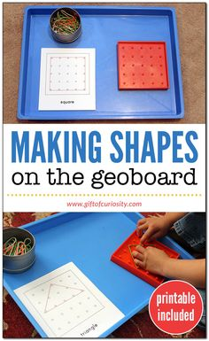 on the geoboard Making shapes on the geoboard Geoboard shapes activity Fine motor shapes activity Printable shapes activity Shapes activity for preschool Shapes acti. Shape Activities Kindergarten, 3d Shapes Activities, Kindergarten Gifts, Teaching Shapes, Preschool Shapes, Preschool Activities, Shape Activities For Preschoolers, September Activities, Preschool Learning