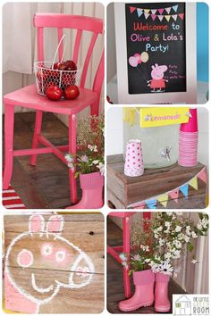 Peppa Pig Twins Party with LOTS of CUTE IDEAS via Kara's Party Ideas | KarasPartyIdeas.com #Pig #Party #Ideas #Supplies #PeppaPig #invitation #decor