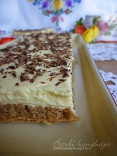 Barbi konyhája: Cseh krémes Sweet Desserts, Easy Desserts, Sweet Recipes, Cake Recipes, Dessert Recipes, Slovakian Food, Czech Recipes, Hungarian Recipes, Mini Cheesecakes
