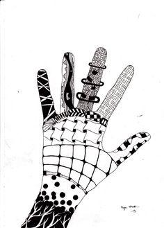 Zentangle Hand by amamarkus @deviantART