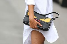 42 Must-Have Bags Seen At New York Fashion Week #refinery29  http://www.refinery29.com/2015/09/94190/cute-handbags-fashion-week-street-style#slide-26  The cutest little monster on the block.Fendi bag....