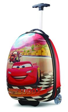 American Tourister Disney Car Hardside 18 Inch Carry-On Upright Suitcase, Multi-Color, One Size