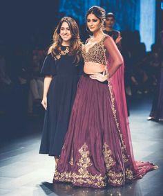 Illeana D'Cruz walks for Ridhi Mehra at Lakmé Fashion Week