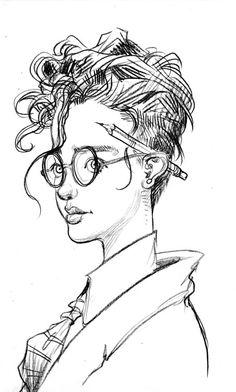 Pencil. Hipster Illustration, People Illustration, Ink Illustrations, Children's Book Illustration, Character Illustration, Ink Pen Drawings, Expressive Art, Sketchbook Inspiration, Illustrators