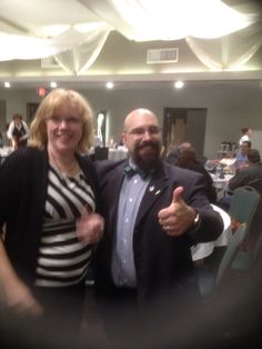 Tim and Joanne at Chamber of Commerce banquet