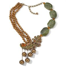 "Oh Heidi, this is fantastical : Heidi Daus ""Fall-Ing For You"" Beaded Drop Necklace"