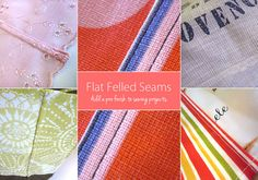 Weekend Wonders with Fabric.com: How To Make Flat Felled Seams | Sew4Home