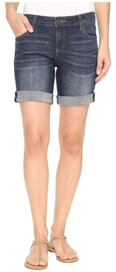 KUT from the Kloth Catherine Boyfriend Shorts in Joyful (Joyful) Women's Shorts - KUT from the Kloth, Catherine Boyfriend Shorts in Joyful, KS979MA8-290, Apparel Bottom Shorts, Shorts, Bottom, Apparel, Clothes Clothing, Gift, - Street Fashion And Style Ideas
