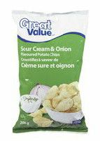 Great Value Sour Cream & Onion Flavoured Potato Chips