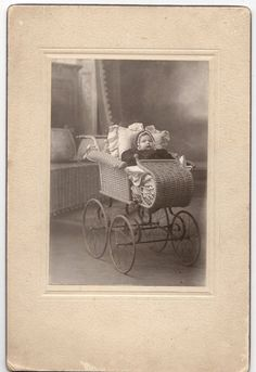 Antique Victorian Baby Portrait Photo Stroller by pinesandneedles, $8.00
