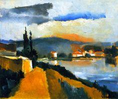 Maurice+de+Vlaminck+1909+-+The+River+Bank,+1909.jpg (1013×847)