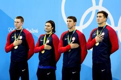 Watch: Murphy, Miller, Phelps, and Adrian Win Gold in 400 Medley Relay