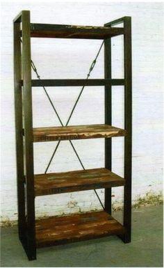 Libreria stile industrial | Idee per la casa | Pinterest | Ferro ...