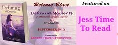 Drop by @JessTimeToRead's blog and checkout @DoriLavelle's new book #DefiningMoments..Also Enter #Giveaways to win a Kindle, $10 Amazon GC + the complete #MomentsInTime Novella collection!  http://jesstimetoread.blogspot.in/2014/09/release-blast-for-defining-moments-by.html #ReleaseBlast #Romance