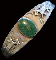 Fred Harvey Era Navajo Turquoise Bracelet / Talking Horses