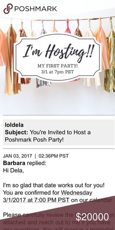 🎀HOST PICKS HAVE BEEN AWARDED🎀 Thank you!!! If I could give you all host picks I would!! Thank you all for partying with me - let's get some sales!!! 🎀🎀🎀  After a long wait I finally get to host my first party!! I'll be hosting March 1st at 7pm PST! Theme is Spring Preview. Help me spread the word by tagging all of your PFFs! Can't wait to party with all of you 🥂🎉💕😍 Anthropologie Other