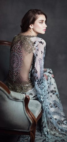 """Claire Pettibone 2015 Bridal Collection """"Gothic Angel"""" - Belle The Magazine"""