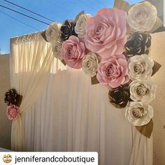 Excited to share this item from my shop: Large Paper Flower Backdrop / Giant Paper Flowers / Paper Flower Wall / Wedding Wall / Bridal shower/ premium flower wall Quince Decorations, Quinceanera Decorations, Birthday Decorations, Baby Shower Decorations, Wedding Decorations, Quinceanera Party, Paper Flower Wall, Giant Paper Flowers, Backdrop With Flowers