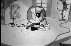 171 of 183. The wind machine sits in one corner of the studio set. | Hollywood Capers (1935) | A Warner Bros./Looney Tunes short animated film featuring Beans the Cat. Directed by Jack King