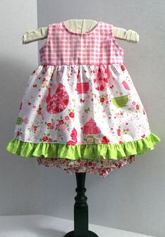 3 Months Baby Dress and Bloomers Floral Checks by MyLilBaby, $34.50 https://www.etsy.com/shop/MyLilBaby?ref=si_shop