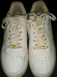 1 Air Force one AF 1 Nike - 82 Men Size sz 11 Leather White Shoes
