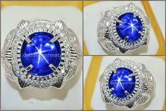 Exclusive Royal Blue SAPPHIRE Star Crystal No Heat  Code:SPS 216 Nama:Blue SAFIR Star NH Asal/Origin:Sri Lanka Berat Batu:8.02 ct Berat Total:15.6 gr Size/Ukuran:10.7 x 9 x 9.5 mm
