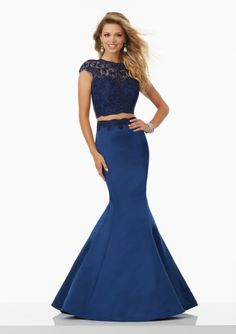 Cheap and Australia Two Piece Mermaid Lace Bodice Satin 2017 Sweep Train Prom / Pageant / Homecoming Dresses from En.dresses4Australia.com.au