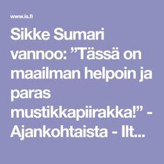 """Sikke Sumari vannoo: """"Tässä on maailman helpoin ja paras mustikkapiirakka!"""" - Ajankohtaista - Ilta-Sanomat"""