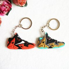 Mini Silicone Jordan Shoes Lebron Keychain Key Chain Sneaker Car Key Holder  Woman Men Bag Charm 45572fd5517a