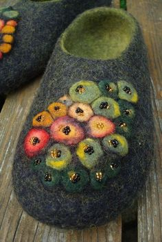 Snug and cozy felt slippers