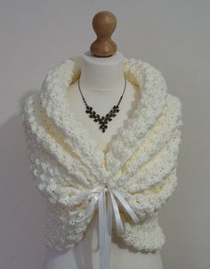 Boda romántico Bolero Crochet encogiéndose de hombros Bolero