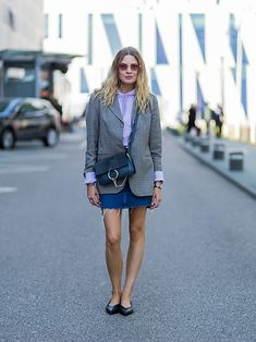 157a9b820535 Blazer grigio a quadri  il nuovo street style trend