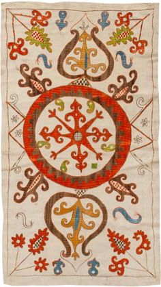 Antique Kaitag Embroidery #45209 Main Image - By Nazmiyal http://nazmiyalantiquerugs.com/antique-rugs/antique-caucasian-rugs/antique-kaitag-embroidery-45209/