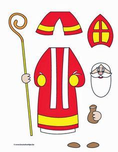 Crafts Saint Nicholas - Arts and crafts for children St Nicholas Day, Illustration Noel, Catholic Crafts, Christmas Crafts For Kids, Prim Christmas, Father Christmas, Retro Christmas, Christmas Trees, Preschool Crafts