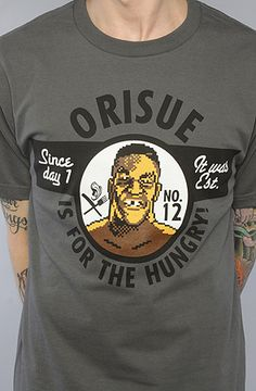 The Hungry 2 Tee in Grey  by ORISUE $10.00