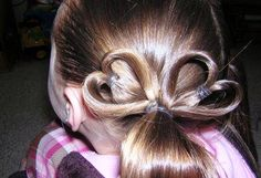 Kids hairstyle (hearts)