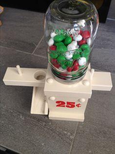 Hand made Candy dispenser with mason jar! Super fun and unique! $20. www.facebook.com/TheUglyDucklingHomeDecorAndMore