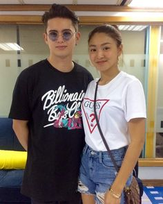 Couple of the day 😍😘 Miss u 😍 from - Look who visited the Viva office today! Nadine Lustre Ootd, Nadine Lustre Outfits, Lady Luster, Summer Outfits, Casual Outfits, James Reid, Girl Crushes, Cute Couples, Celebrities