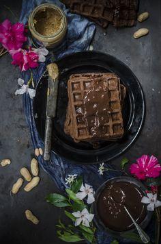 Peanut butter chocolate waffles
