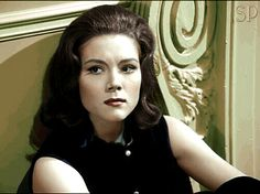 *m. Diana Rigg as Mrs Peel in the Avengers