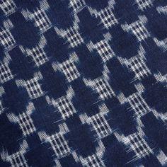Vintage Japanese kasuri ikat indigo cotton by kimonomomo on Etsy, $30.00