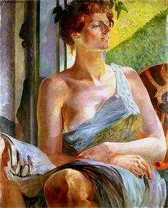 Bacchante, portrait of Maria Bal (Balowa) by Jacek Malczewski (1854-1929).